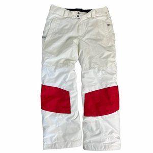 COLUMBIA Women's Omni-Heat Titanium White/Red Snow Pants Size Medium Pre-Owned